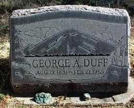 DUFF, GEORGE ALEXANDER - Yavapai County, Arizona | GEORGE ALEXANDER DUFF - Arizona Gravestone Photos