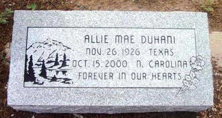 DUHANI, ALLIE MAY - Yavapai County, Arizona | ALLIE MAY DUHANI - Arizona Gravestone Photos