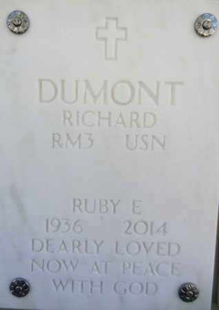 DUMONT, RUBY ELIZABETH - Yavapai County, Arizona | RUBY ELIZABETH DUMONT - Arizona Gravestone Photos