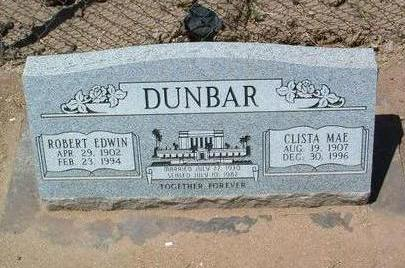 DUNBAR, CLISTA MAE - Yavapai County, Arizona | CLISTA MAE DUNBAR - Arizona Gravestone Photos