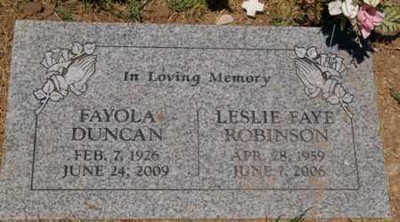 DUNCAN ROBINSON, LESLIE - Yavapai County, Arizona | LESLIE DUNCAN ROBINSON - Arizona Gravestone Photos
