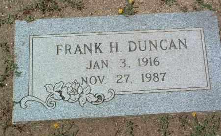 DUNCAN, FRANK H. - Yavapai County, Arizona   FRANK H. DUNCAN - Arizona Gravestone Photos