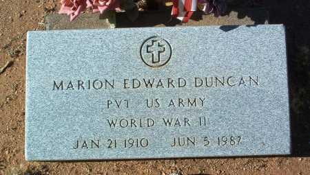 DUNCAN, MARION EDWARD - Yavapai County, Arizona   MARION EDWARD DUNCAN - Arizona Gravestone Photos