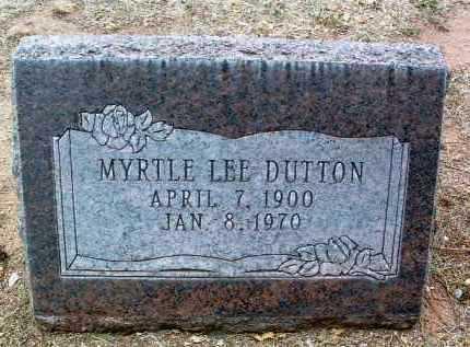 DUTTON, MYRTLE LEE - Yavapai County, Arizona | MYRTLE LEE DUTTON - Arizona Gravestone Photos