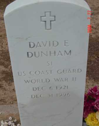 DUNHAM, DAVID E. - Yavapai County, Arizona   DAVID E. DUNHAM - Arizona Gravestone Photos