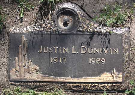 DUNIVIN, JUSTIN LEROY - Yavapai County, Arizona   JUSTIN LEROY DUNIVIN - Arizona Gravestone Photos