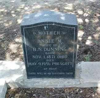 WIGTON DUNNING, ANNIE - Yavapai County, Arizona | ANNIE WIGTON DUNNING - Arizona Gravestone Photos
