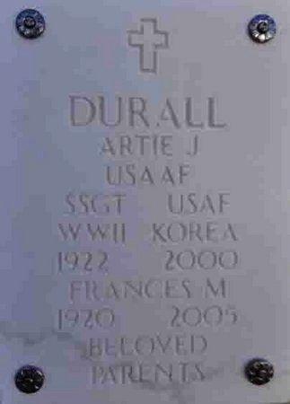 DURALL, FRANCES MOZELLE - Yavapai County, Arizona | FRANCES MOZELLE DURALL - Arizona Gravestone Photos