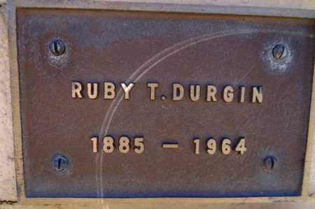 DURGIN, RUBY T. - Yavapai County, Arizona   RUBY T. DURGIN - Arizona Gravestone Photos