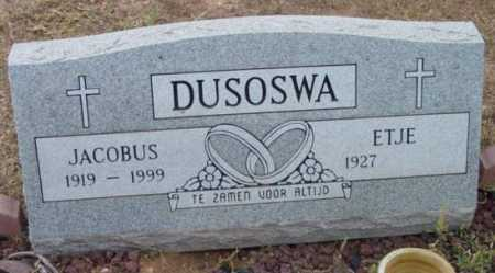 DUSOSWA, JACOBUS - Yavapai County, Arizona | JACOBUS DUSOSWA - Arizona Gravestone Photos