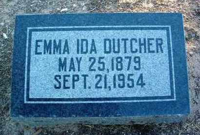 DUTCHER, EMMA IDA - Yavapai County, Arizona | EMMA IDA DUTCHER - Arizona Gravestone Photos