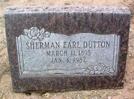 DUTTON, SHERMAN EARL - Yavapai County, Arizona | SHERMAN EARL DUTTON - Arizona Gravestone Photos