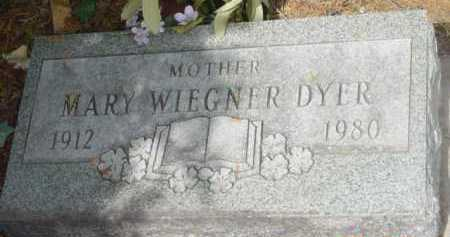 WIEGNER DYER, MARY DORTHEA - Yavapai County, Arizona | MARY DORTHEA WIEGNER DYER - Arizona Gravestone Photos