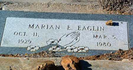 EAGLIN, MARIAN E. - Yavapai County, Arizona | MARIAN E. EAGLIN - Arizona Gravestone Photos
