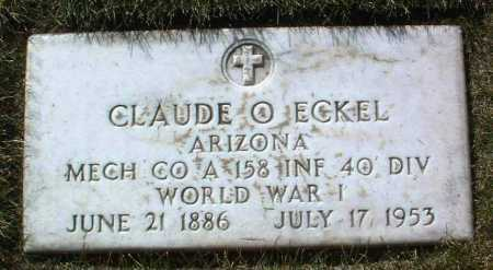 ECKEL, CLAUDE OVERTON - Yavapai County, Arizona | CLAUDE OVERTON ECKEL - Arizona Gravestone Photos
