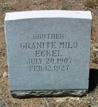 ECKEL, GRANITE MILO - Yavapai County, Arizona | GRANITE MILO ECKEL - Arizona Gravestone Photos