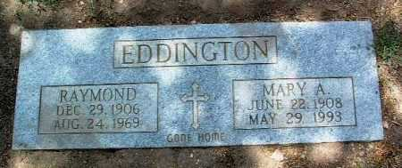EDDINGTON, RAYMOND - Yavapai County, Arizona | RAYMOND EDDINGTON - Arizona Gravestone Photos