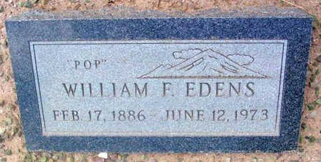 EDENS, WILLIAM FRANCIS - Yavapai County, Arizona | WILLIAM FRANCIS EDENS - Arizona Gravestone Photos