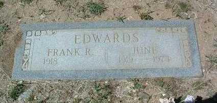 EDWARDS, JUNE - Yavapai County, Arizona | JUNE EDWARDS - Arizona Gravestone Photos