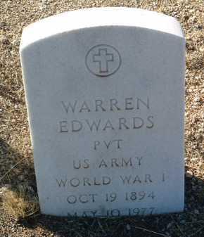 EDWARDS, WARREN - Yavapai County, Arizona | WARREN EDWARDS - Arizona Gravestone Photos
