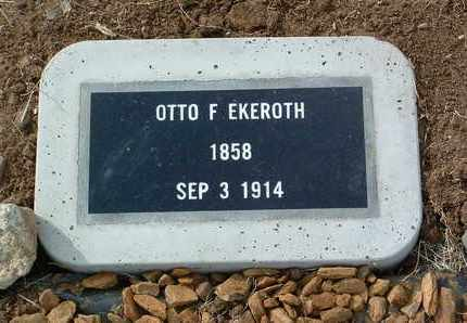 EKEROTH, OTTO F. - Yavapai County, Arizona   OTTO F. EKEROTH - Arizona Gravestone Photos