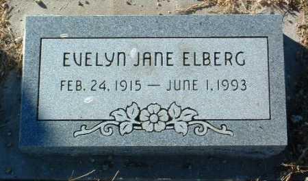 ELBERG, EVELYN JANE - Yavapai County, Arizona | EVELYN JANE ELBERG - Arizona Gravestone Photos