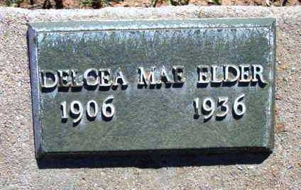 ELDER, DELCEA MAE - Yavapai County, Arizona | DELCEA MAE ELDER - Arizona Gravestone Photos