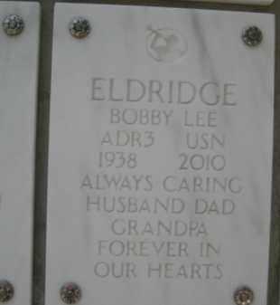 ELDRIDGE, BOBBY LEE - Yavapai County, Arizona   BOBBY LEE ELDRIDGE - Arizona Gravestone Photos