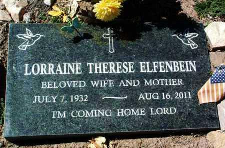 GRANDCHAMP ELFENBEIN, LORRAINE THERESE - Yavapai County, Arizona | LORRAINE THERESE GRANDCHAMP ELFENBEIN - Arizona Gravestone Photos