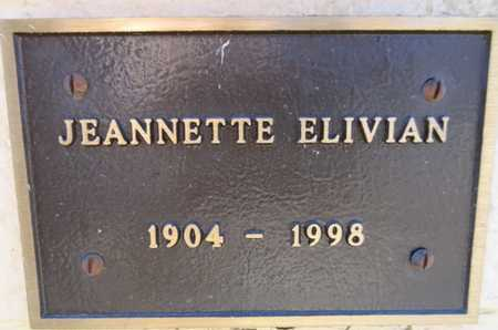ELIVIAN, JEANNETTE - Yavapai County, Arizona   JEANNETTE ELIVIAN - Arizona Gravestone Photos