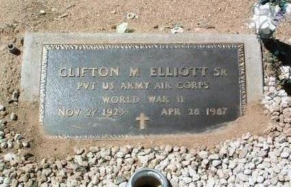 ELLIOTT, CLIFTON M., SR. - Yavapai County, Arizona | CLIFTON M., SR. ELLIOTT - Arizona Gravestone Photos
