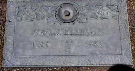 ELLIS, GEORGE JOHANNES - Yavapai County, Arizona | GEORGE JOHANNES ELLIS - Arizona Gravestone Photos