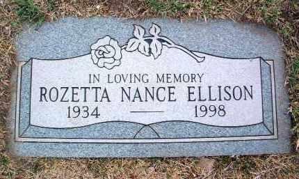 ELLISON, ROZETTA (ROSE) - Yavapai County, Arizona   ROZETTA (ROSE) ELLISON - Arizona Gravestone Photos