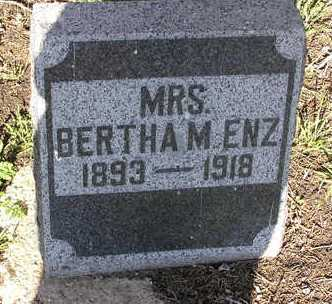 ENZ, BERTHA M. - Yavapai County, Arizona | BERTHA M. ENZ - Arizona Gravestone Photos