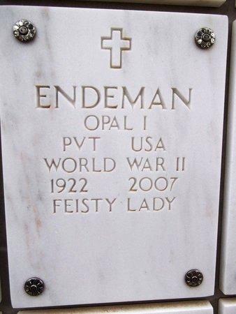 ENDEMAN, OPAL I. - Yavapai County, Arizona | OPAL I. ENDEMAN - Arizona Gravestone Photos