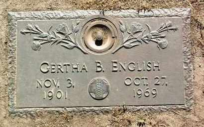 ENGLISH, GERTHA BENTON - Yavapai County, Arizona | GERTHA BENTON ENGLISH - Arizona Gravestone Photos