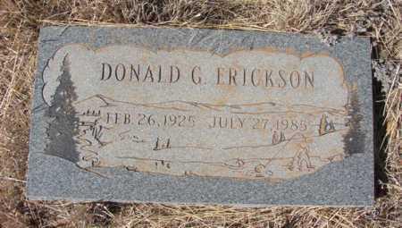 ERICKSON, DONALD G. - Yavapai County, Arizona   DONALD G. ERICKSON - Arizona Gravestone Photos