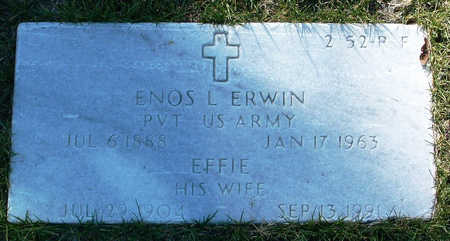 ERWIN, ENOS LEO - Yavapai County, Arizona | ENOS LEO ERWIN - Arizona Gravestone Photos