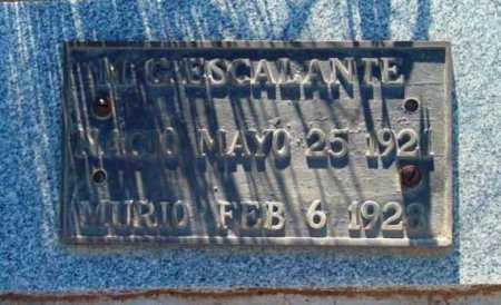 ESCALANTE, MIGUEL - Yavapai County, Arizona | MIGUEL ESCALANTE - Arizona Gravestone Photos