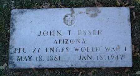 ESSER, JOHN TEAGUE - Yavapai County, Arizona   JOHN TEAGUE ESSER - Arizona Gravestone Photos