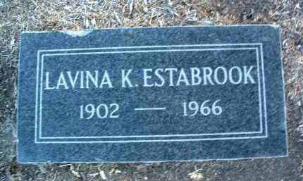 ESTABROOK, LAVINA JANE - Yavapai County, Arizona   LAVINA JANE ESTABROOK - Arizona Gravestone Photos