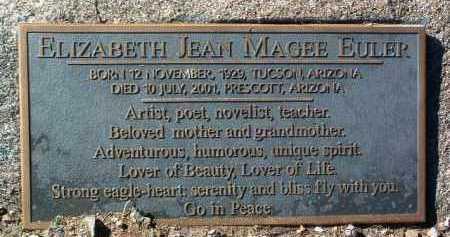 EULER, ELIZABETH JEAN - Yavapai County, Arizona | ELIZABETH JEAN EULER - Arizona Gravestone Photos