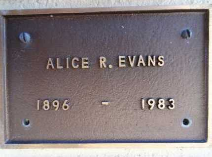 BURNS EVANS, ALICE R. - Yavapai County, Arizona | ALICE R. BURNS EVANS - Arizona Gravestone Photos