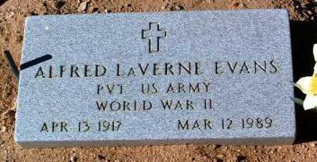 EVANS, ALFRED LAVERNE - Yavapai County, Arizona   ALFRED LAVERNE EVANS - Arizona Gravestone Photos