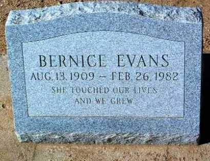 EVANS, BERNICE - Yavapai County, Arizona | BERNICE EVANS - Arizona Gravestone Photos