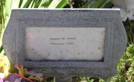 EVANS, ERNEST MELVIN - Yavapai County, Arizona   ERNEST MELVIN EVANS - Arizona Gravestone Photos