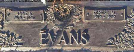 EVANS, ERNEST MELVIN - Yavapai County, Arizona | ERNEST MELVIN EVANS - Arizona Gravestone Photos