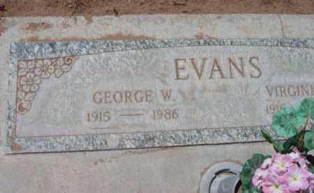 EVANS, GEORGE W. - Yavapai County, Arizona   GEORGE W. EVANS - Arizona Gravestone Photos