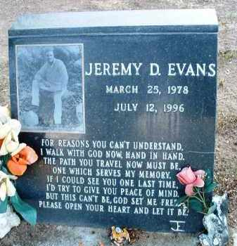 EVANS, JEREMY DAVID - Yavapai County, Arizona   JEREMY DAVID EVANS - Arizona Gravestone Photos