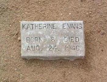 EVANS, KATHERINE - Yavapai County, Arizona | KATHERINE EVANS - Arizona Gravestone Photos